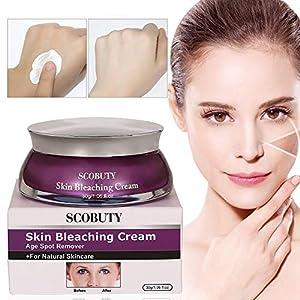Whitening Cream, Crema Blanqueadora, Skin Whitening Cream, Crema Blanqueadora Cuerpo y Aclarar las Manchas de la piel, Adecuado Para Pieles Oscuras, Axilas, Codos, Cuello, Axilas-30g