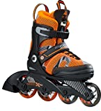 K2 Jungen Inline Skates SK8 Hero x Pro - Orange-Schwarz - M (32-37 EU; 13-4 UK; 1-5 US) - 30B0207.1.1.M