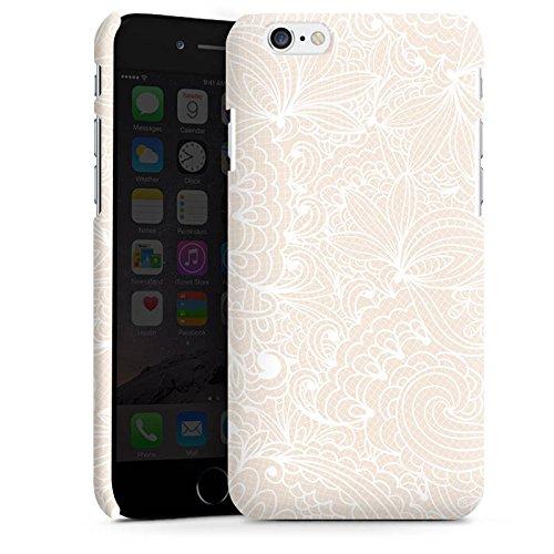 Apple iPhone 4 Silikon Hülle Case Schutzhülle Spitze Muster Blumen Premium Case matt