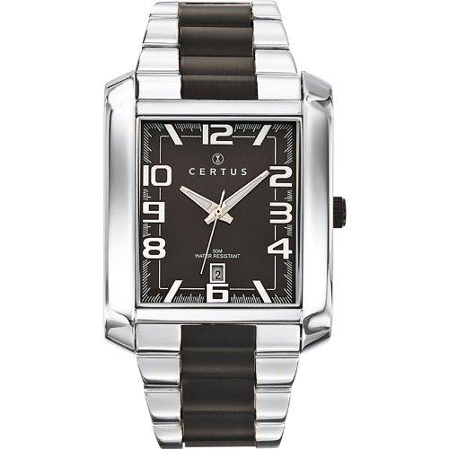 Certus 616266-Men's Watch Analogue Quartz Black Dial Steel Strap Silver