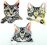 i-Patch Patches - 0059 - Katze - Katzen - Katzenkopf - Cat - Aufbügler - Flicken - Aufnäher - Sticker - Badges - Flicken - Bügelbild - DIY - Aufbügler - Iron-on - Applikation - zum aufbügeln