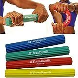 Thera Band 4FLEXBAR: 1blau (starke, schwer), 1grün (Media), 1Rot (leicht), 1Gelb (Extra Leicht) FLEXBAR stärkt Muskeln Hand Handgelenk Ellbogen Unterarm Theraband