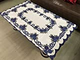 #9: Amazon Great Indian Sale - FAB NATION DIAMOND Designer Net 4 seater Polyster Centre Table Cover