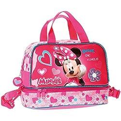 Disney Minnie Beauty Case da Viaggio Adattabile al Trolley per Make Up per Ragazza Bambina Portatutto Idea Regalo