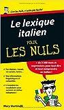 le lexique italien pour les nuls de mery martinelli 15 ao?t 2012