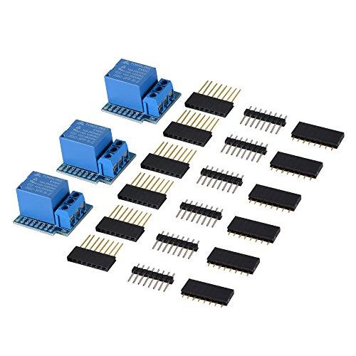 XCSOURCE 3pcs 1 Bouclier Relais 1-Cannal pour Arduino Wemos D1 Mini WIFI Module de Développement TE685