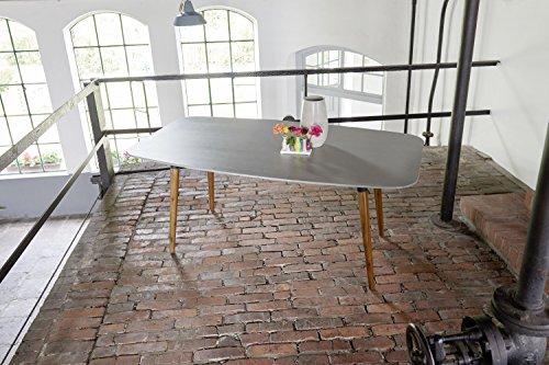 Ribelli Gartentisch 'Bali' - Esstisch grau & braun für Garten, Terrasse & Balkon rechteckig,...