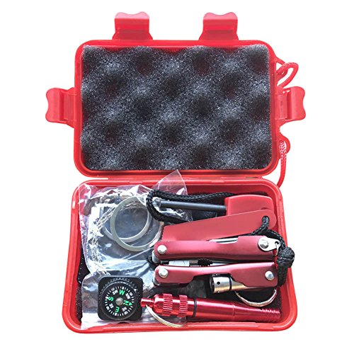 Msleep 1 Set Emergency SOS Kit Car Earthquake Supplies SOS Outdoor Camping Survival Tool Kit with Box