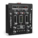 Resident DJ DJ-25 • DJ-Mixer • Mesa de Mezclas • 2 Canales • Compacta • Bluetooth • USB • SD • 2 entradas de línea • Fácil de Usar • Sólida • Pantalla LCD • 2 terminales para Altavoz • Negro/Blanco