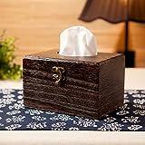 SFSYDDY-bruciare il legno antico legno carta fine asciugamano cassa ufficio di carta igenica box hotel salvietta box casa da tè di scatoloni