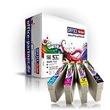4er multiPack kompatible Druckerpatronen zu Epson T0715 mit Chip für Epson Stylus D120 / D78 / D92 / DX4000 / DX4050 / DX4400 / DX5000 / DX6000 / DX6050 / DX7000F / DX7400 / DX7450 / DX8400 / DX8450 / DX9400F, BX300F / BX600FW, S20 / S21 / SX100 / SX105 / SX110 / SX115 / SX200 / SX205 / SX210 / SX215 / SX400 / SX405 / SX410 / SX415 / SX510W / SX515W / SX600FW / SX610FW