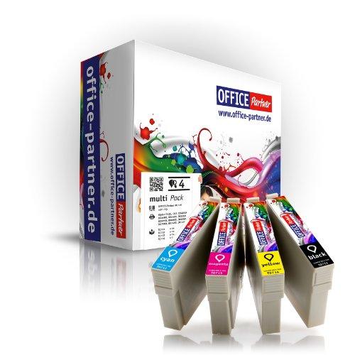 4er multiPack kompatible Druckerpatronen zu Epson T0715 mit Chip für Epson Stylus...
