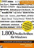 Produkt-Bild: 1.800 Profischriften für Windows mit Vorschau