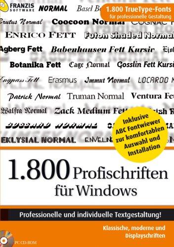 1.800 Profischriften für Windows mit Vorschau