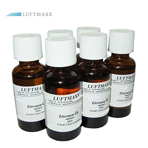 6 x LUFTMAXX Duftöl Zitrone für Staubsauger mit Wasserfilter Wasserstaubsauger und Lufterfirscher