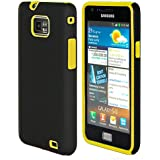 32nd® Dual hybrid rubber case cover for Samsung Galaxy S2 i9100 + screen protector, cleaning cloth and touch stylus - Yellow