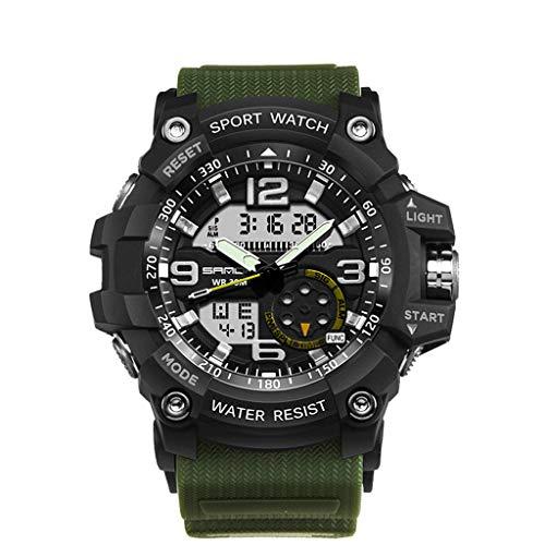 Neue Armbanduhr FGHYH Männer Fashion Watch Herren wasserdichte Sportuhren Shock Digital Elektronische Elektronische Uhr LED wasserdichte Outdoor-Sportuhr(AG)