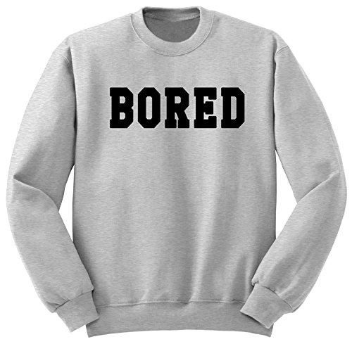 Bored / Femme Tumblr / Oversize / Sweat-shirt / Pull / SW13 Gris