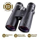 BNISE 10x50 ED Binoculars for Adults, Compact Design, Waterproof and Fog Proof,