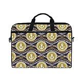 Ahomy 15-15,4 Zoll Laptop Tasche Ankerkette Canvas Stoff Laptop Tasche Bussiness Handtasche mit Schultergurt für Damen und Herren