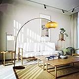 LPP Kreative Neue Chinesische Stil Wohnzimmer Stehleuchte Angeln Lichter Bambus Holz Stehlampe Persönlichkeit Bogen Lampe,Large