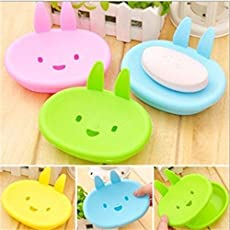 Pindia Plastic Rabbit Bathroom Soap Box Case Holder