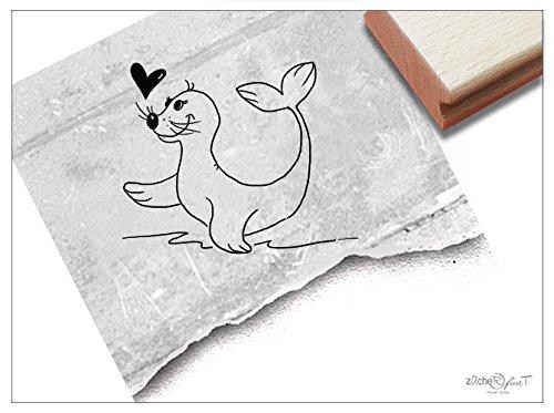 Stempel - Kinderstempel ROBBE Ronja - Motivstempel Bildstempel Geschenk für Kinder Kita Kinderzimmer Schule Beruf Malen Basteln Deko - von zAcheR-fineT