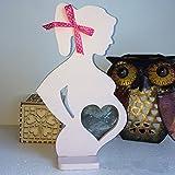 Better-Way - Silueta de mujer embarazada, diseño de bomba de bebé, con marco de metal, para decoración de guardería, decoración moderna de mesa