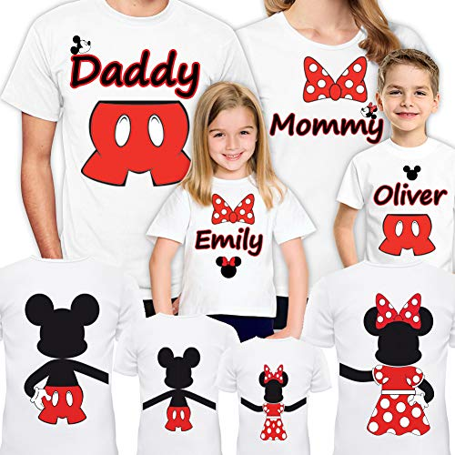 Disney Family Shirts Set of 4-5-6-7 Mickey Minnie Mouse Vacation Matching Trip for Gift Tshirts Christmas T-Shirt 2018 2019 (Son)