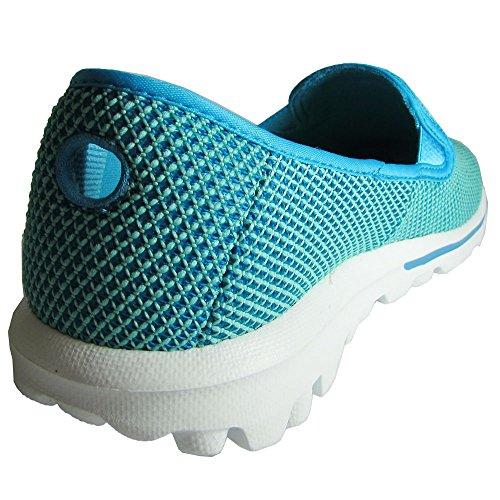 Donna Skechers Go Passeggiata Dazzle 13786 Slip On fannullone scarpe Teal