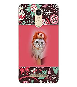 PrintDhaba Cat D-3153 Back Case Cover for XIAOMI REDMI NOTE 3 PRO (Multi-Coloured)