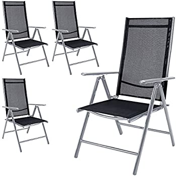 nexos 4 er set stuhl klappstuhl gartenstuhl hochlehner f r terrasse balkon. Black Bedroom Furniture Sets. Home Design Ideas