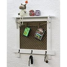 Pizarra/corcho 43cm, Loft 12047estante Vintage Shabby Chic ganchos Perchero