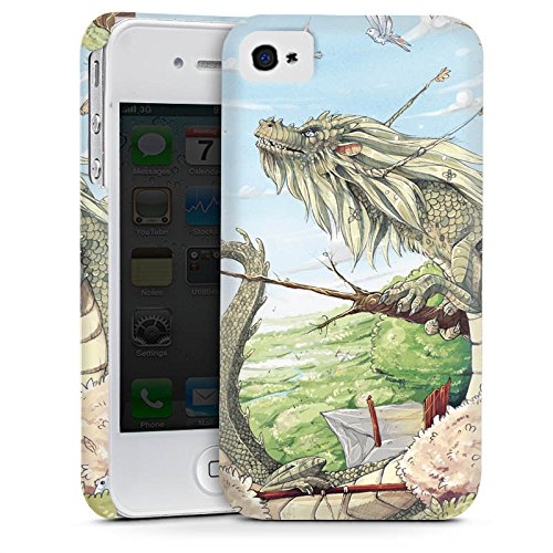 Apple iPhone 5 Housse étui coque protection Dragon Imagination Oiseaux Cas Premium mat