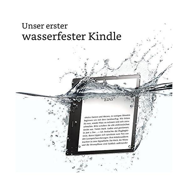 Der neue Kindle Oasis eReader, wasserfest, hochauflösendes 7 Zoll-Display (300 ppi), integriertes Audible