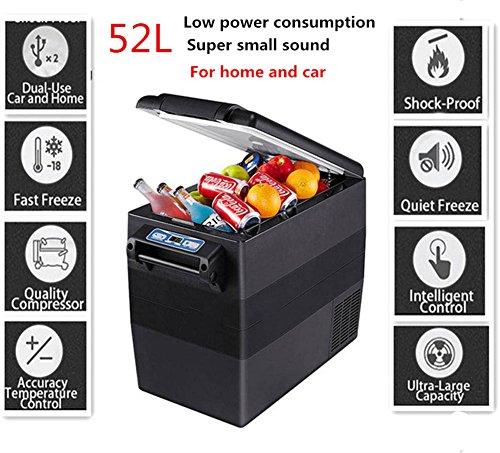 Mini Refrigerador Del Coche Portátil De Refrigerato Del Compacto Del Vehículo Para El Hogar Del Carro Coche Partido Viaje 52L