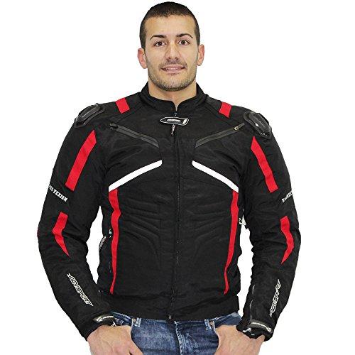 AGV Sport Lucca Giacche moto in tessuto per uomo (XXL, rosso/nero)