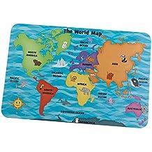 KidKraft - Puzzle de suelo: mapa del mundo (63474)