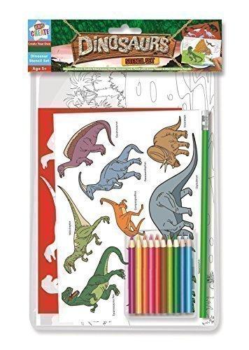 Anker Kinder, 'Dinosaurier Schablonen-Set, Kunststoff, Farbe