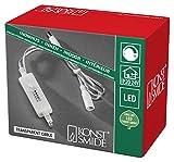 Konstsmide 3668-003 Dimmer, nachrüstbar für alle Konstsmide LED Innenartikel mit Trafo bis max. 400 LEDs / für Innen (IP20) /  transparentes Kabel