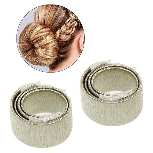 Mode pour dames cheveux Styling Donut Chignon Maker (beige)