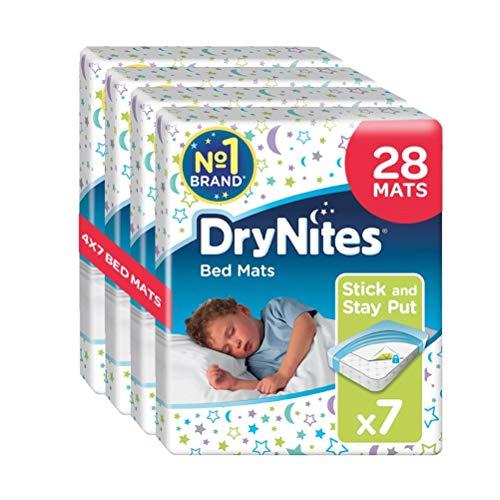 Huggies Drynites Estera De La Cama, 4 cajas con 7 Alfombrillas (En total 28 unidades)