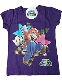 Nintendo T-Shirt - Super Mario Galaxy - Jump Mario! - Lila/Mehrfarbig