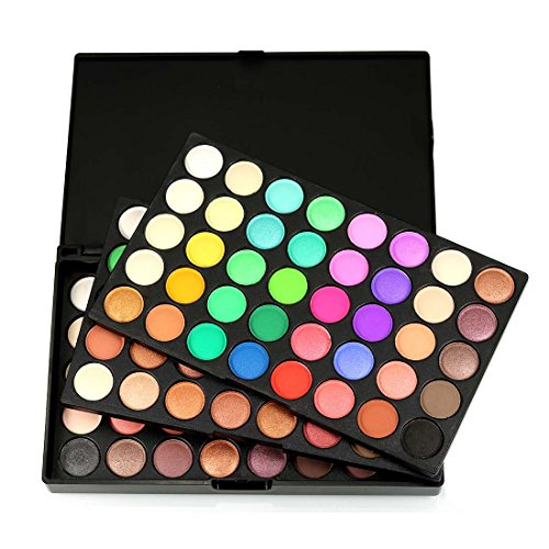 Ombre à Paupières Maquillage Palette 120 Couleur De Couleur Vive, CAN_Deal Matte Shimmer Glitter Ton Cosmétiques à Base d'Eau Palette Multicolore Beauté Tool Kit