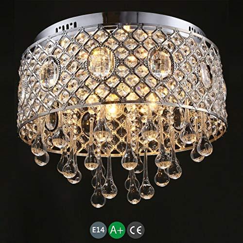 LED Modern Crystal Design Deckenleuchte Schlafzimmerlampe Deckenleuchte mit 4 * E14 Deckenleuchte...