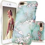 GopeE IPhone 7 Plus Case,iPhone 8 Plus Case, Marble Design Clear Bumper TPU Soft Case Rubber Silicone Skin Cover For IPhone 7 Plus (2016)/iPhone 8 Plus (2017) - B07H1JJ3QX