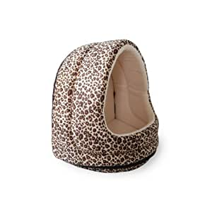 PAW Furry Canopy Cave Pet Bed, Cheetah by Trademark - Pet Products