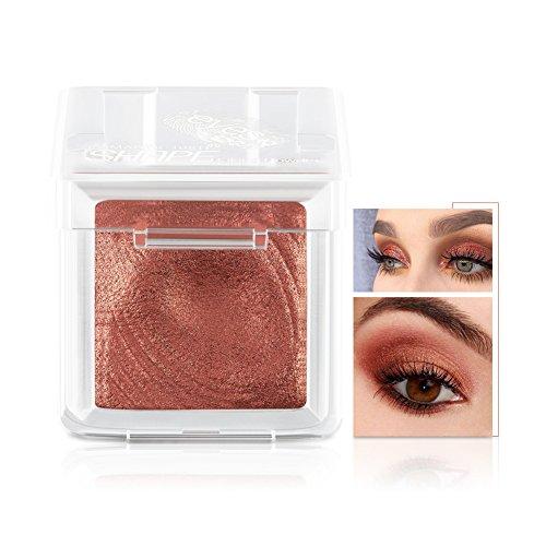 Fard à Paupières Single Eyeshadow Palette Shimmer Metallic Baked poudre de maquillage pour les yeux Smoky Yeux Pigments Ombre à Paupière (corail)