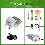 Nice Grow Beleuchtungs-Set EVSG dimmbar NDL 400W Wuchs 600W Blüte Cooltube-Reflektor