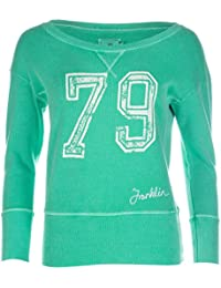 Womens Franklin and Marshall Crew Sweatshirt in Green